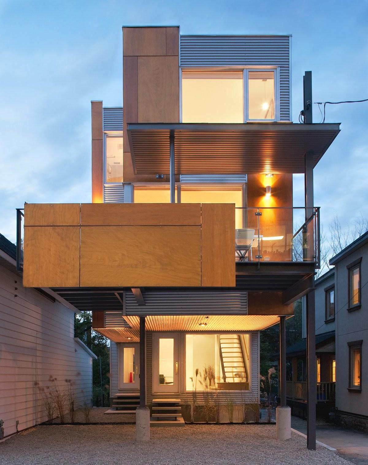Slim Style Narrow House Masterpiece Fine Modern