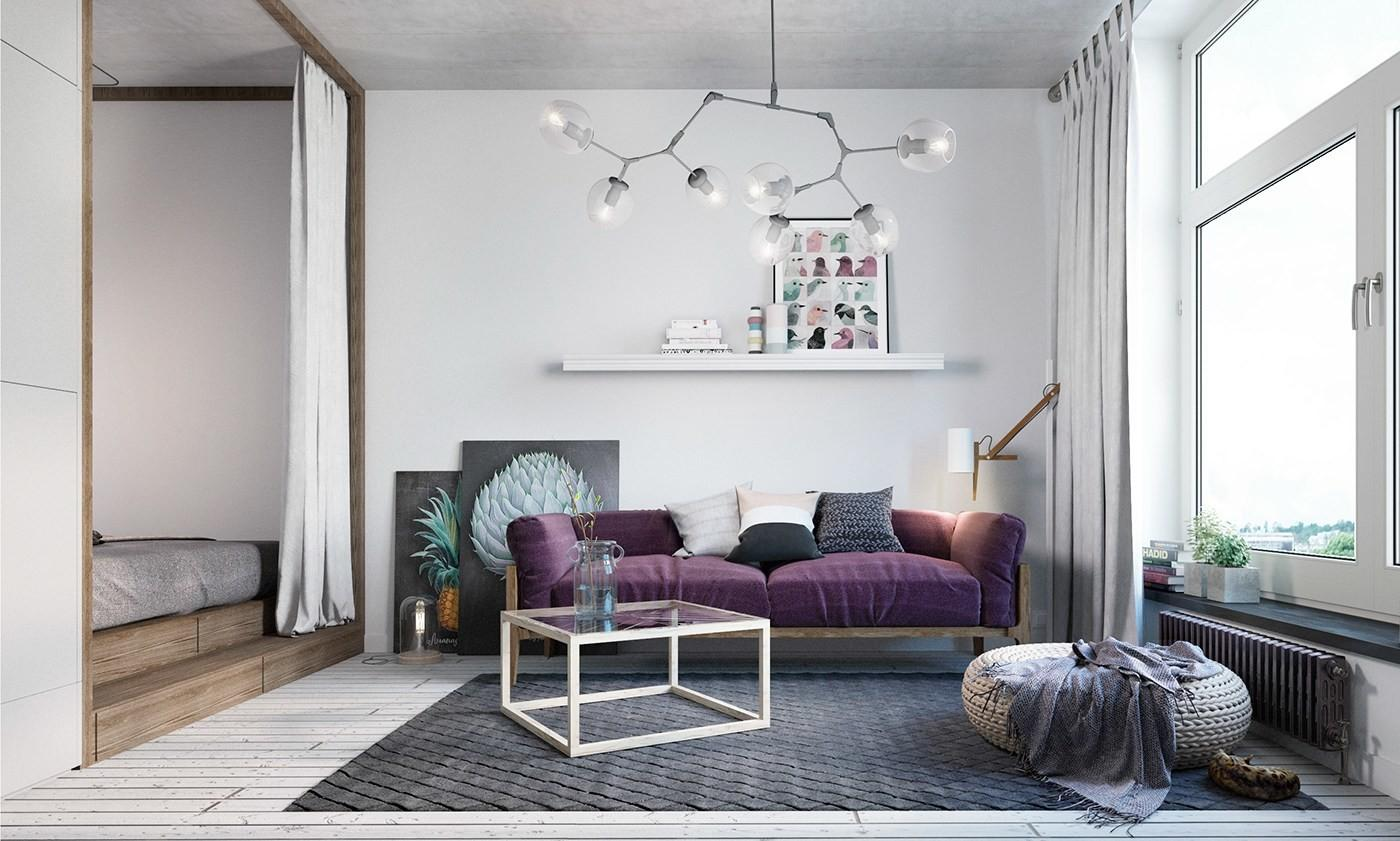 Small Apartment Design Scandinavian Style Looks