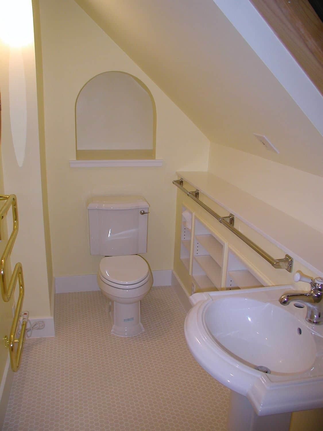 Small Attic Bathroom Awesome Look Designing