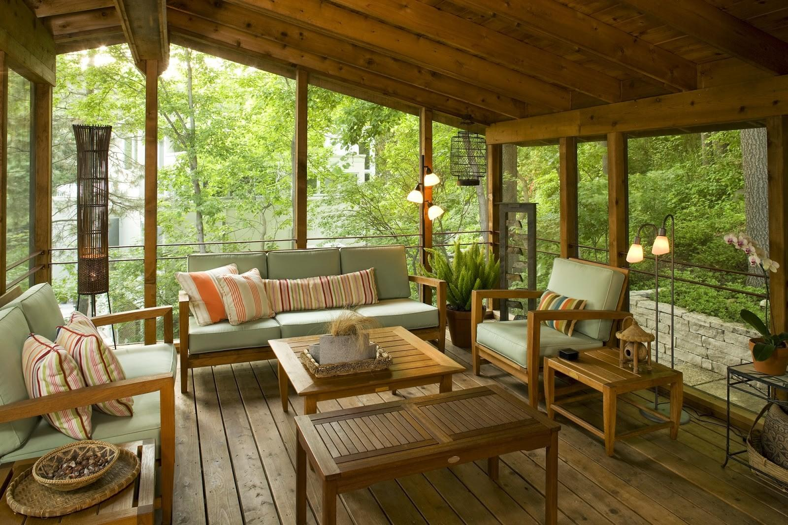 Small Back Porch Decorating Ideas Houses Scenery