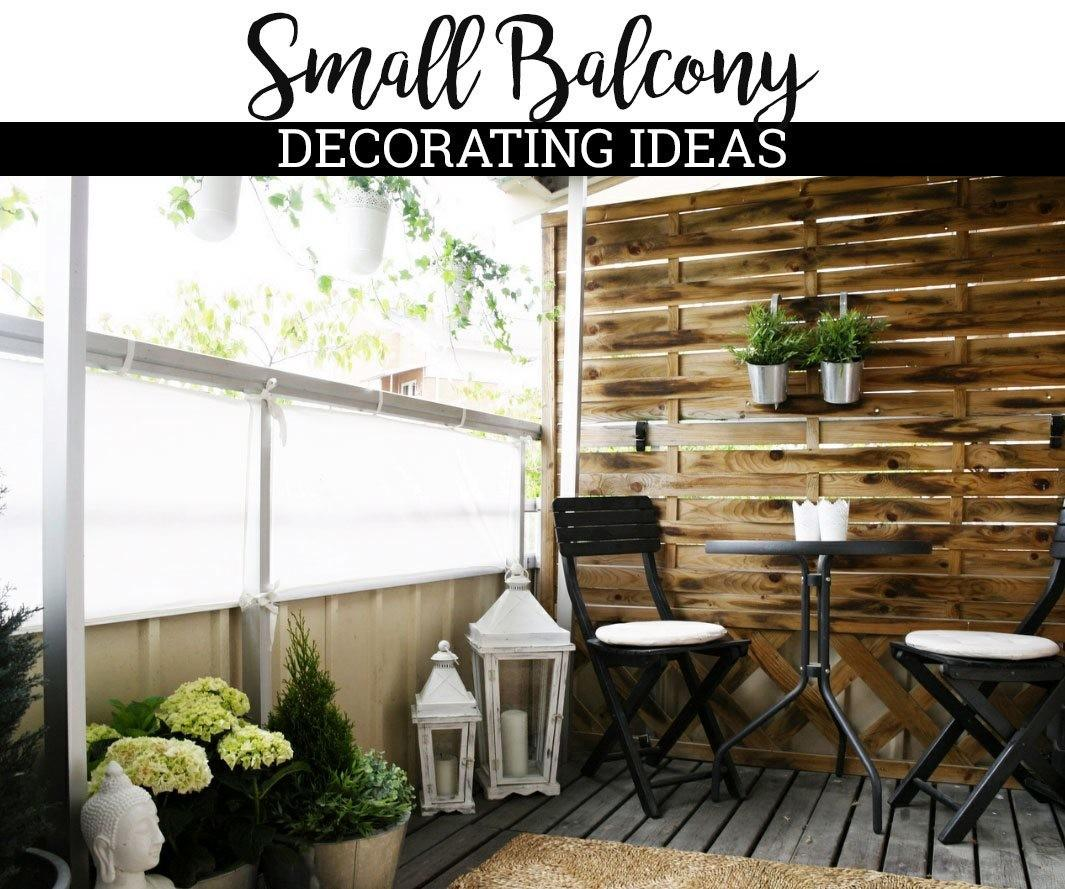 Small Balcony Decorating Ideas Country Square