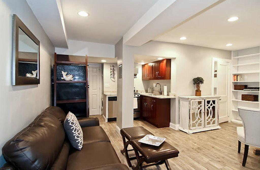 Small Basement Apartment Decorating Ideas Above Fireplace