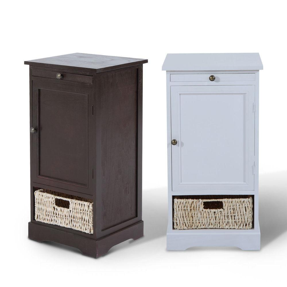 Small Bedroom Cabinet Modern Bedside Table Nightstand Unit