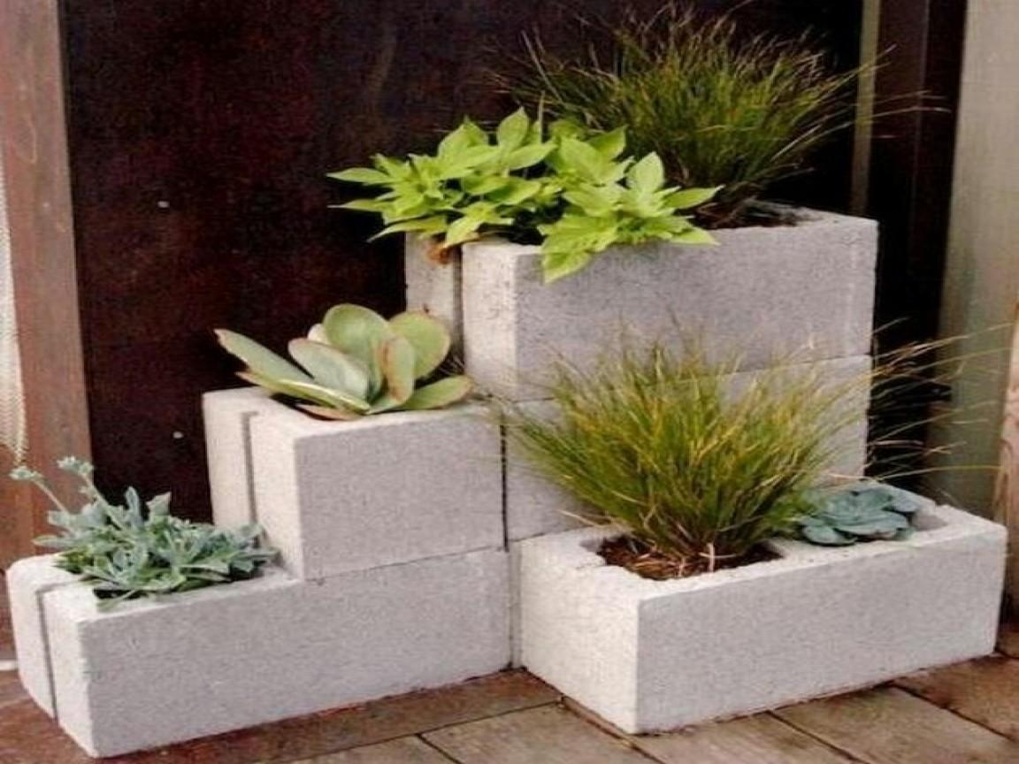 Small Box Room Ideas Diy Cinder Block Planter Concrete