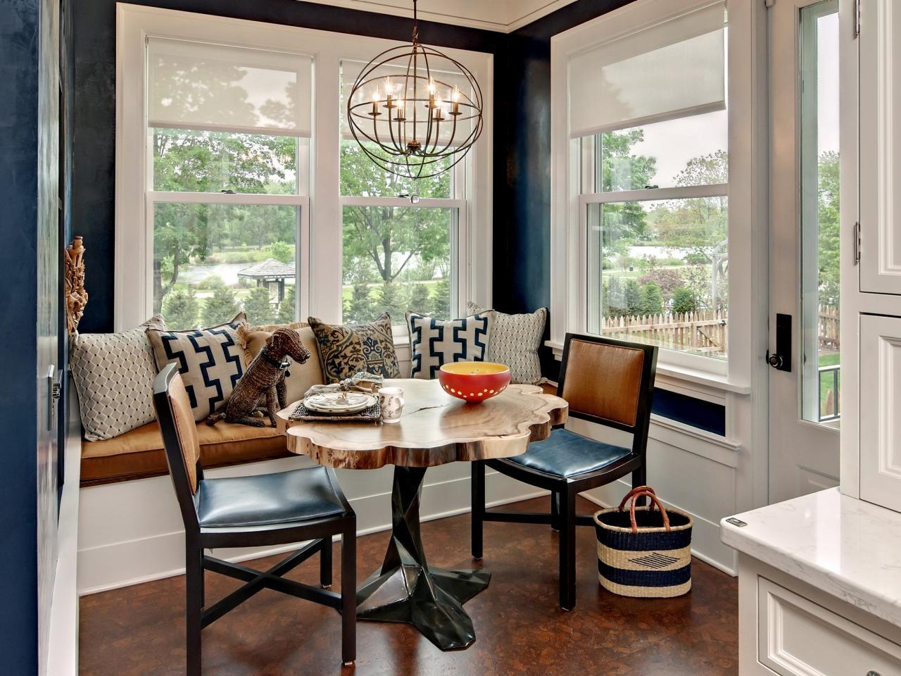 Small Breakfast Nook Table Banquette Seating