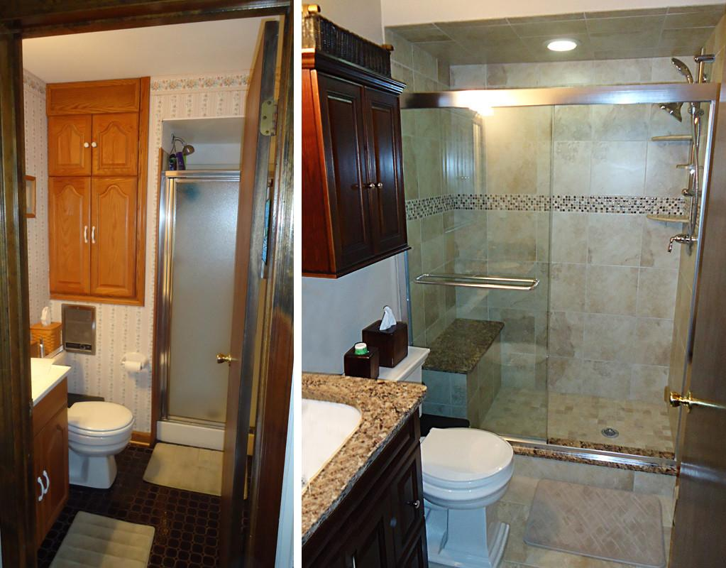 Small Bridgewater Bathroom Remodel Skydell Contracting Inc