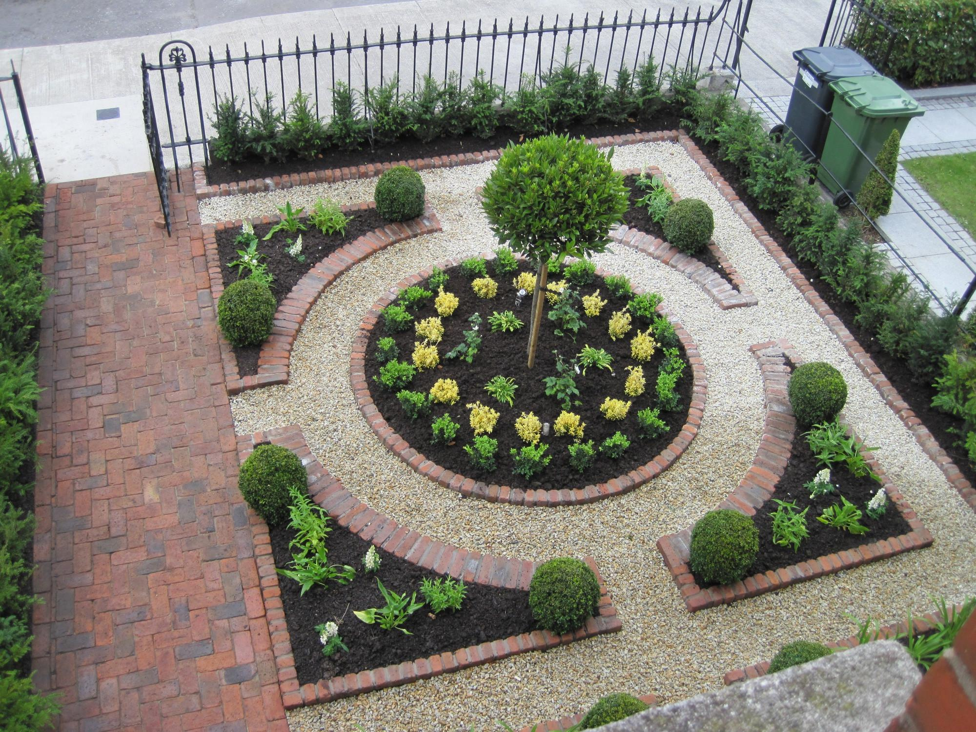 Small Garden Victory Formal Plan Making Lovely