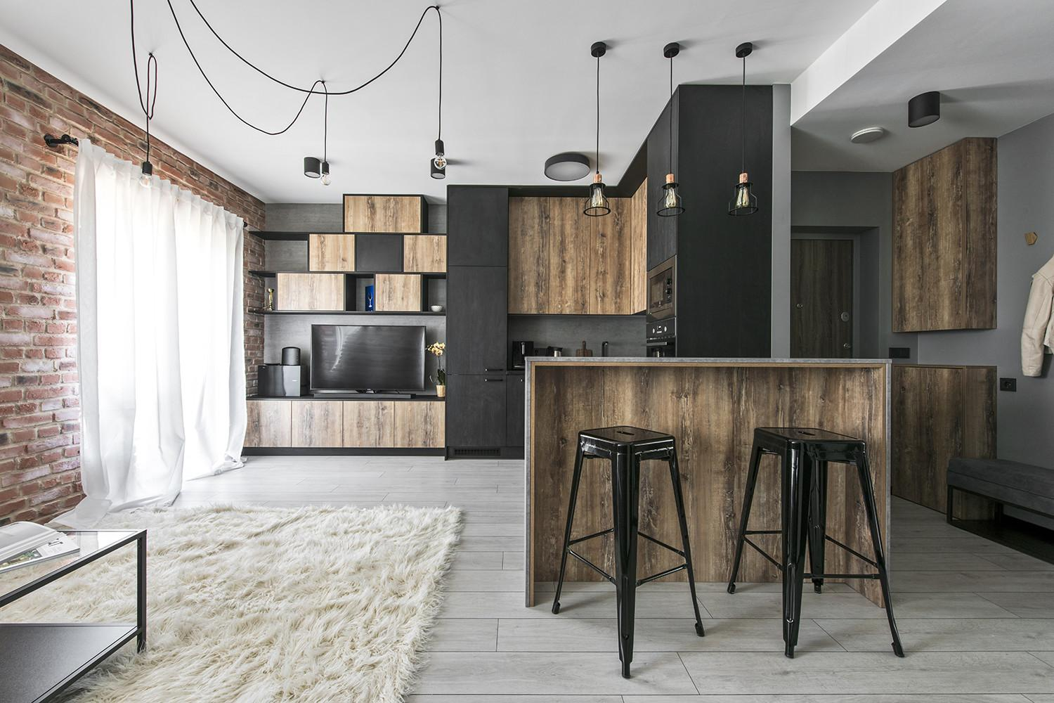 Small Industrial Apartment Lithuania Gets Inspiring