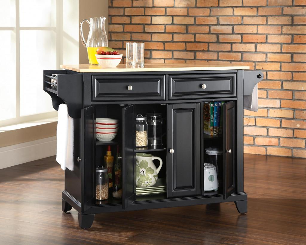 Small Kitchen Contemporary Storage Cart