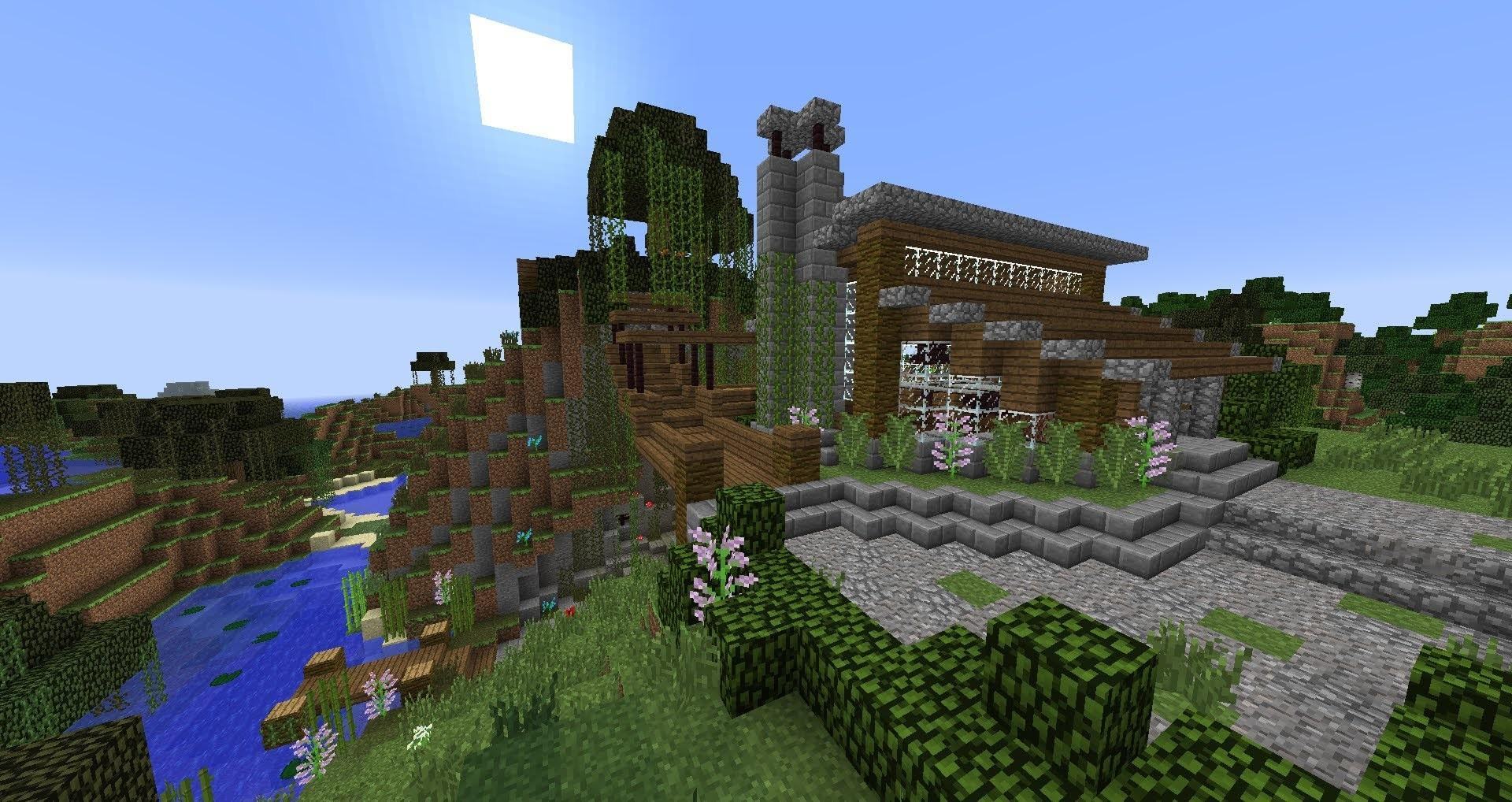 Small Lake House Vacation Home Minecraft Tour