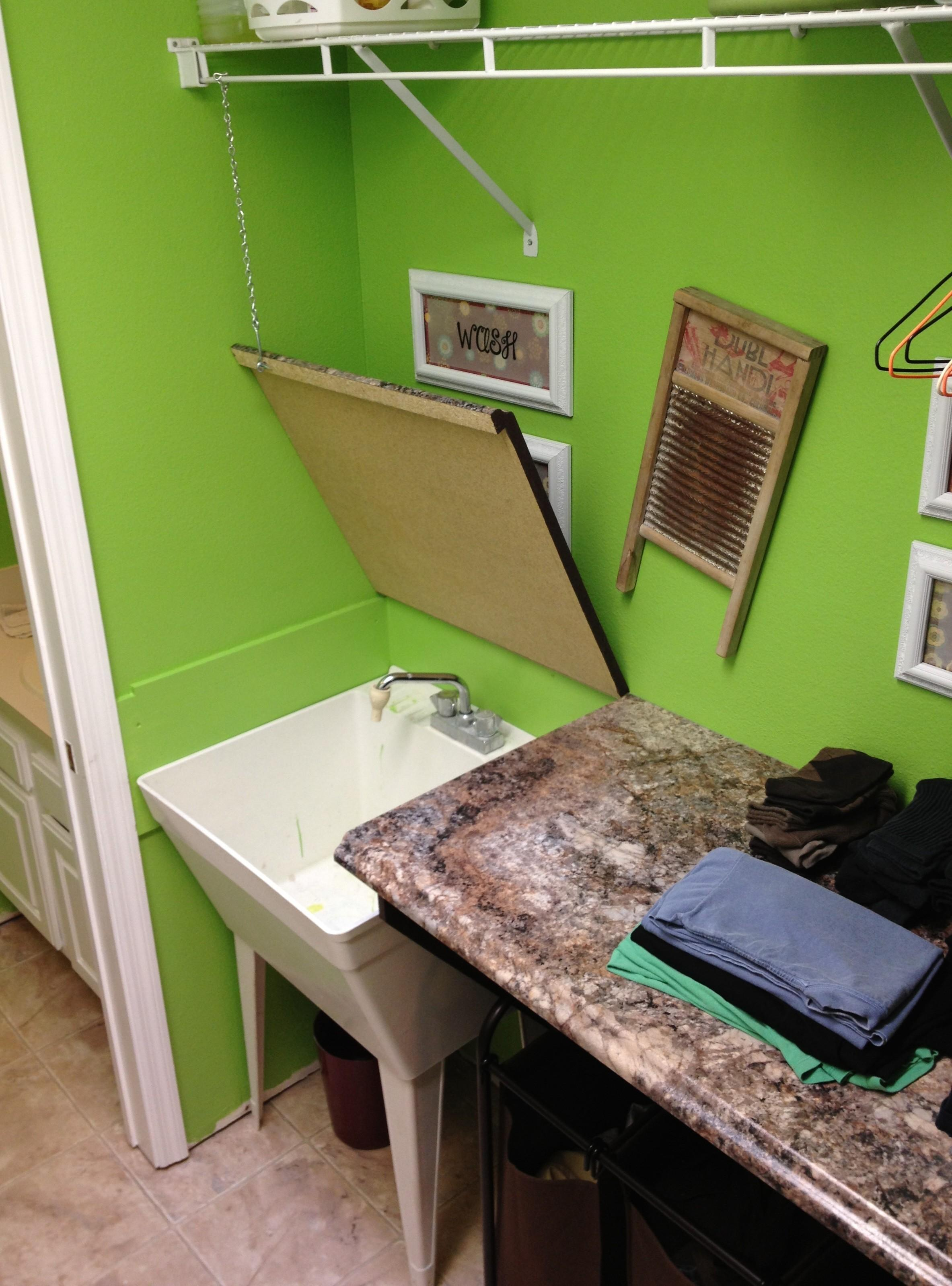 Small Laundry Room Folding Table Great Home Design