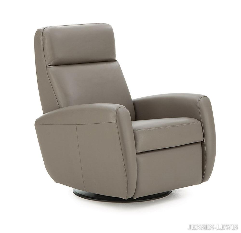 Small Leather Recliners James Cream Power Motion