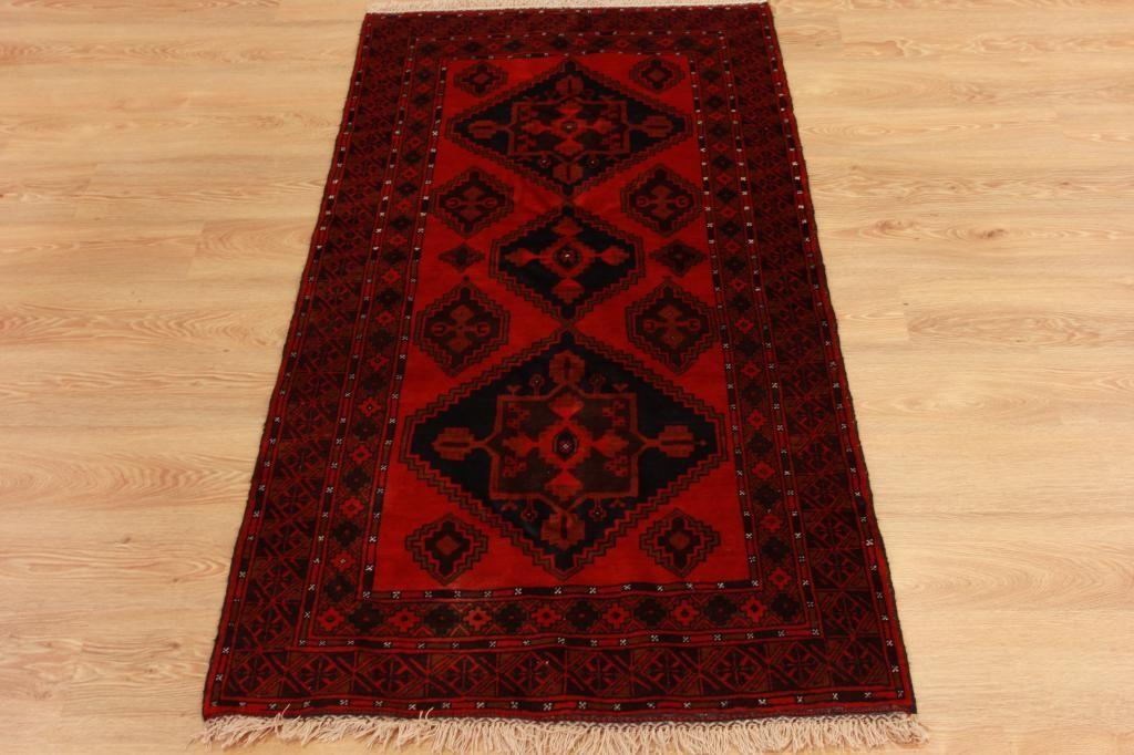 Small Luxury High End Persian Fireplace Rug Red Handmade