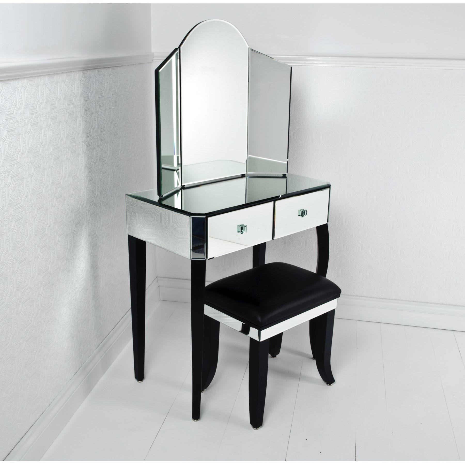 Small Modern Mirrored Vanity Table Pier One Double