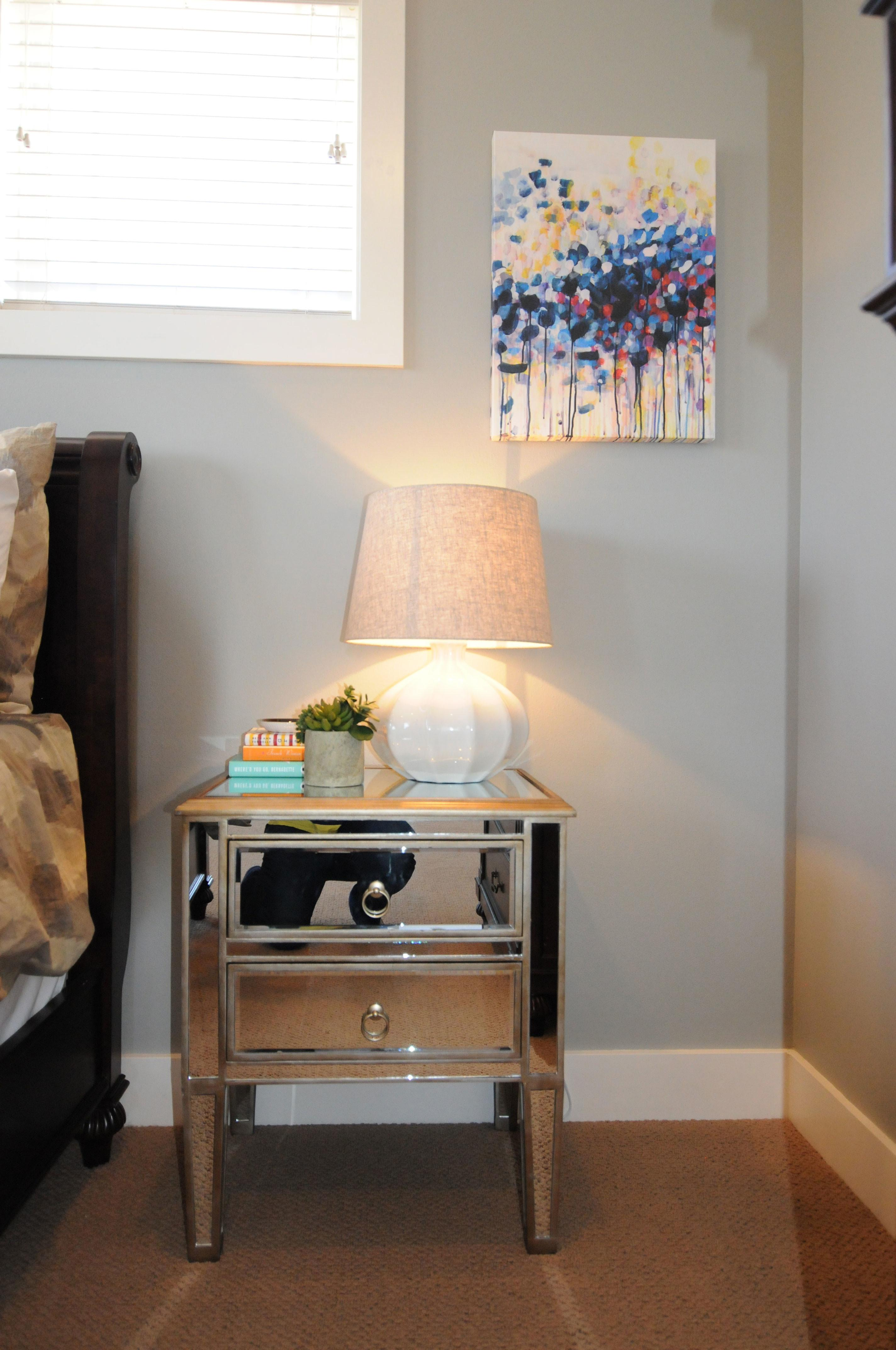 Small Nightstand Narrow Bedside Table