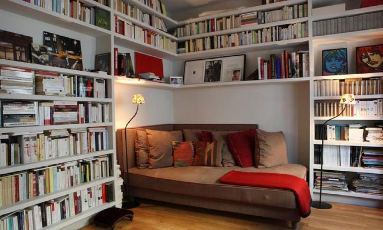 Small Office Couch Home Library Ideas Tiny