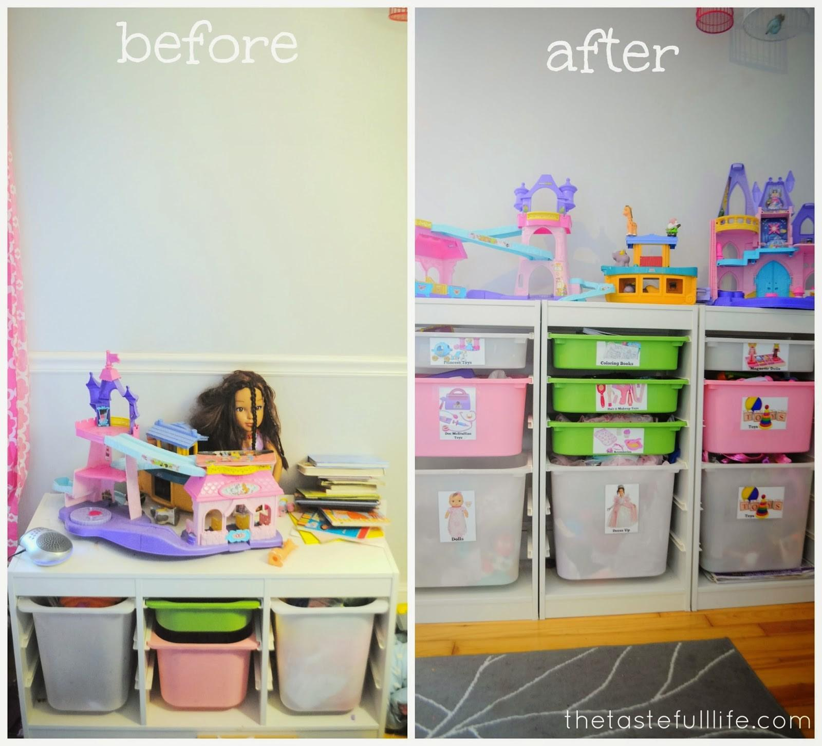 Small Space Toy Storage Solution Easy Diy Labels