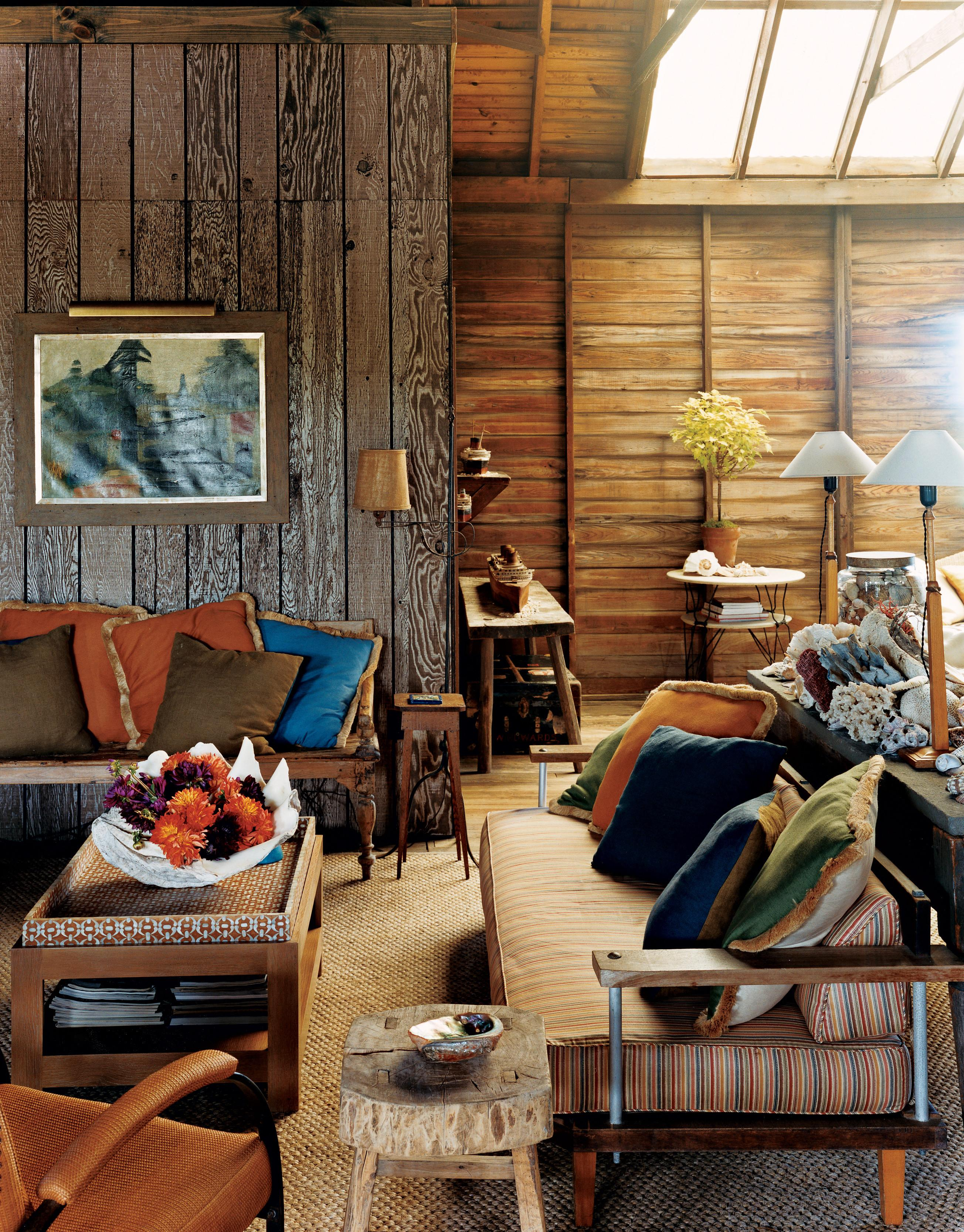 Small Spaces Rustic Living Room Design Wood Wall Old