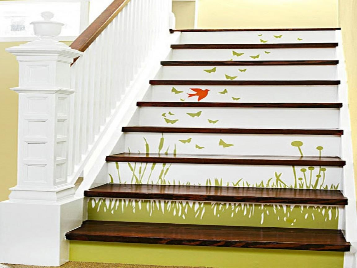 Small Staircase Design Stair Risers Ideas Painting