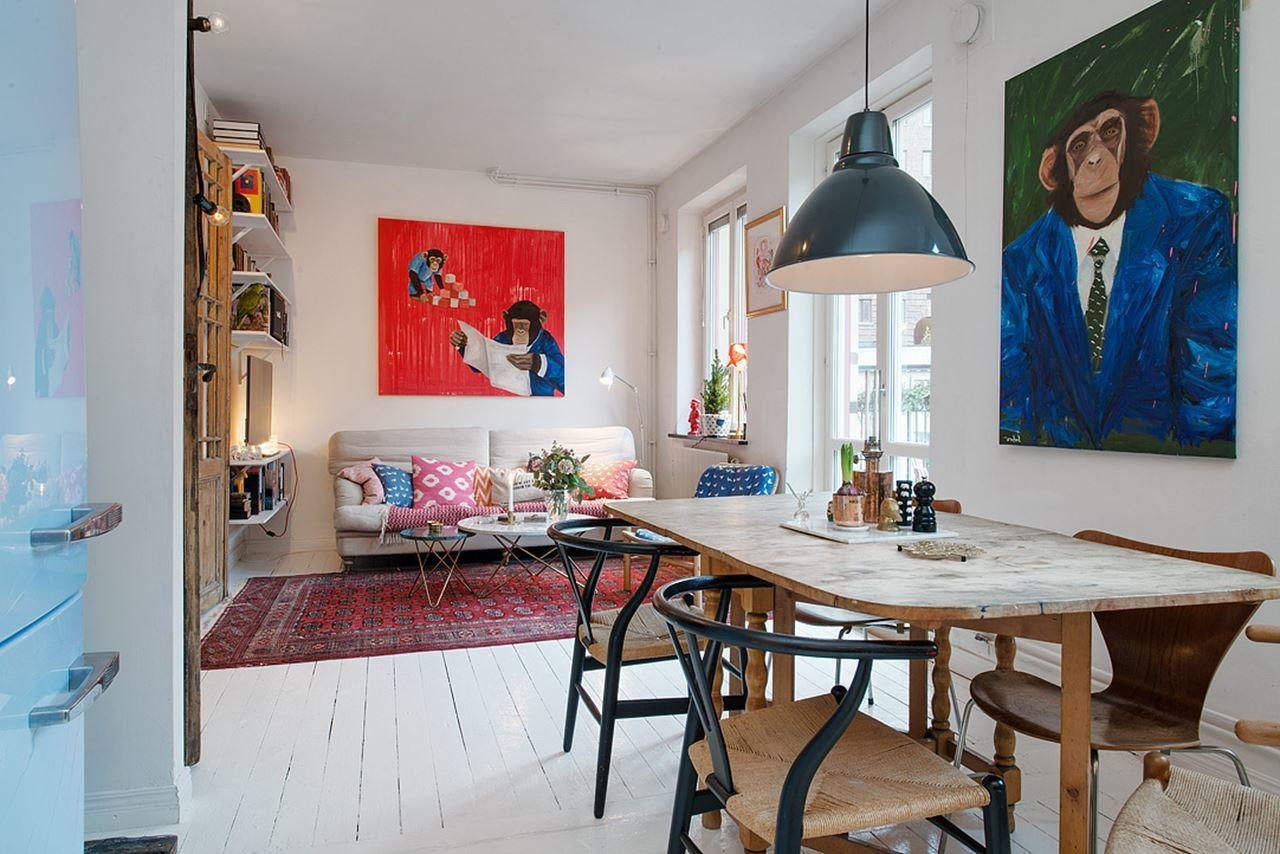 Small Swedish Apartment Example Scandinavian Style