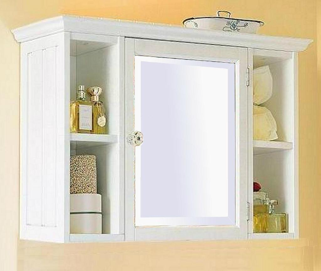 Small White Bathroom Wall Cabinet Shelf Home