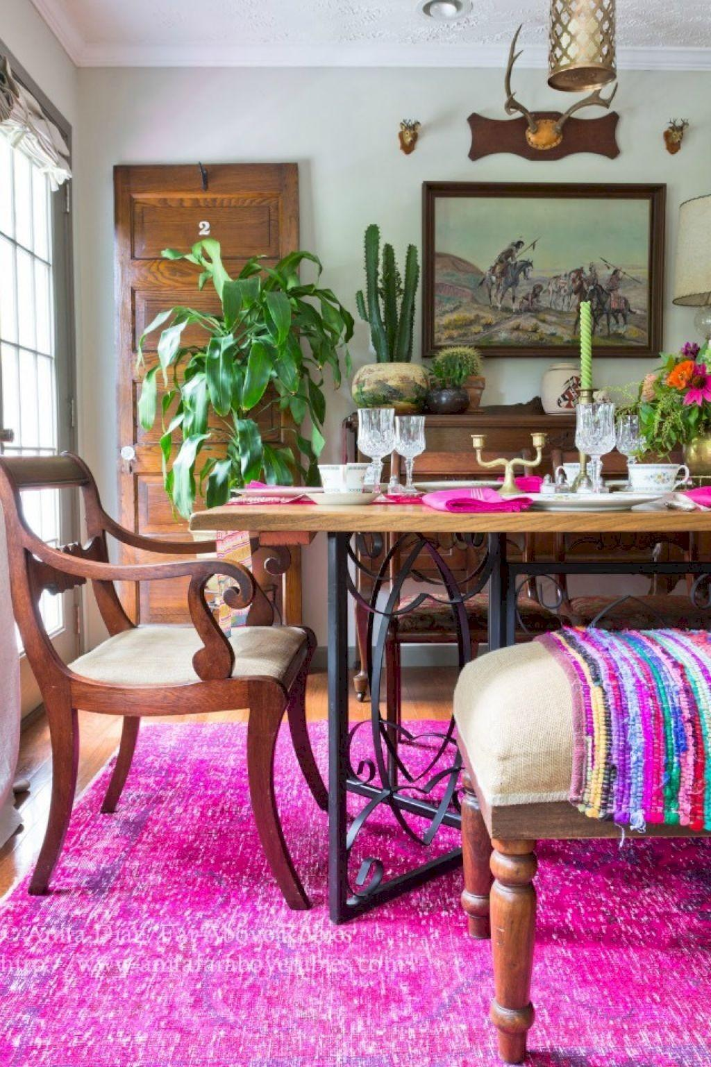 Smart Beauty Bohemian Dining Room Decor Ideas
