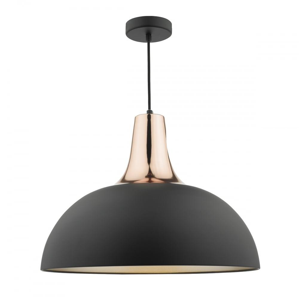 Smart Modern Matte Black Copper Ceiling Pendant