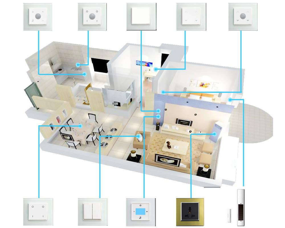 Smart Wireless Touch Electric Switch Wall