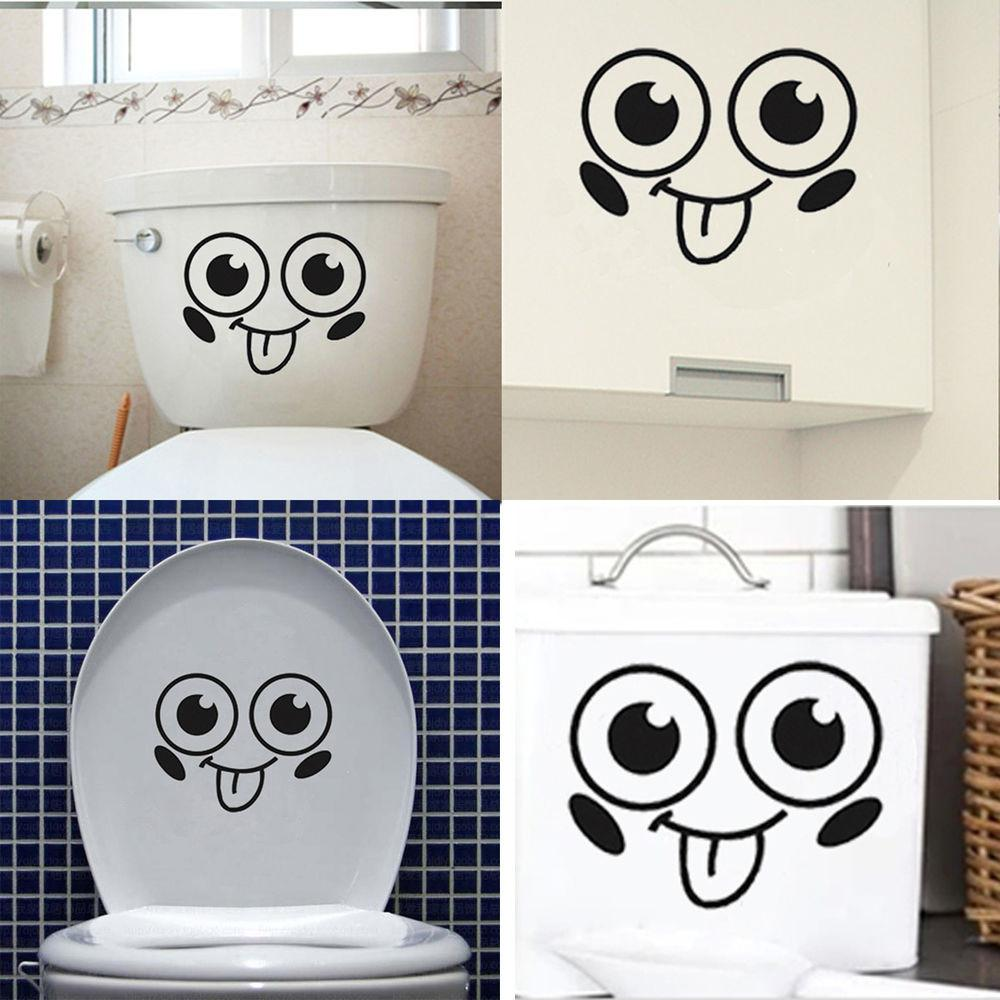 Smile Face Funny Bathroom Toilet Seat Car Home Wall