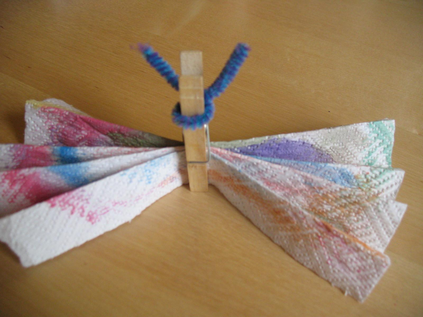 Smiling Like Sunshine Kids Crafts Clothespin Butterfly