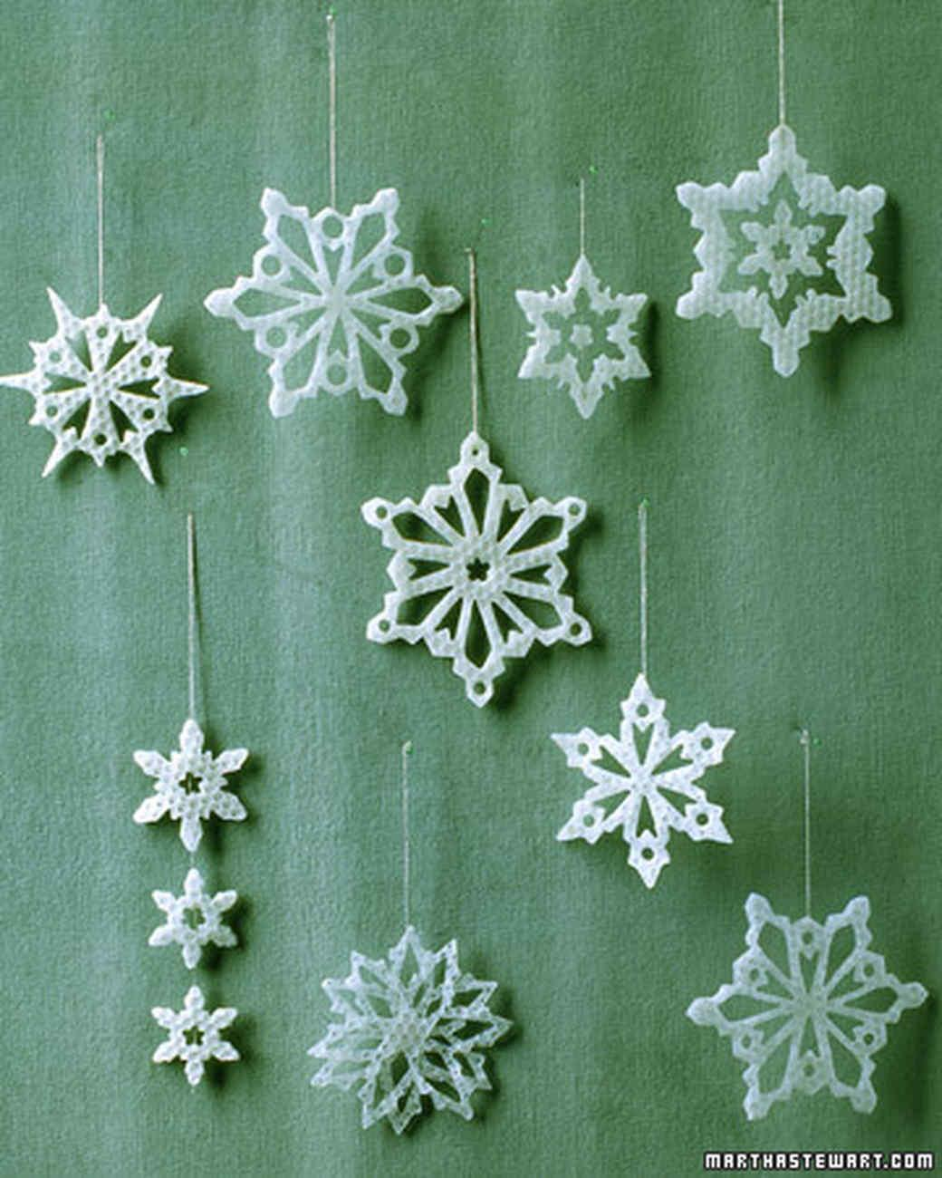 Snowflake Ornaments Guarantee White Christmas