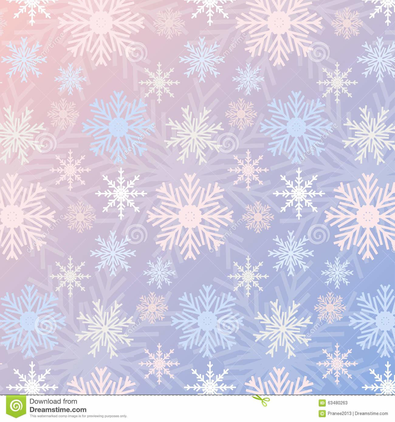 Snowflake Seamless Pattern Gradient Rose Quartz