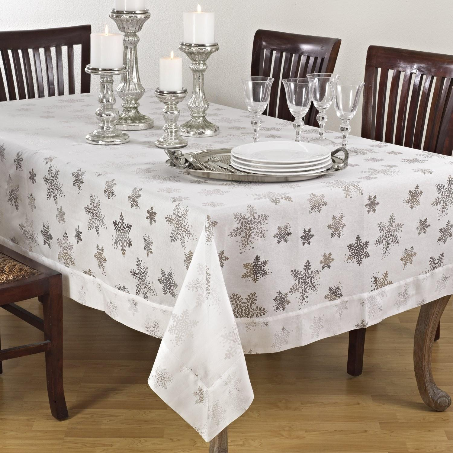 Snowflake Tablecloths Christmas Wikii