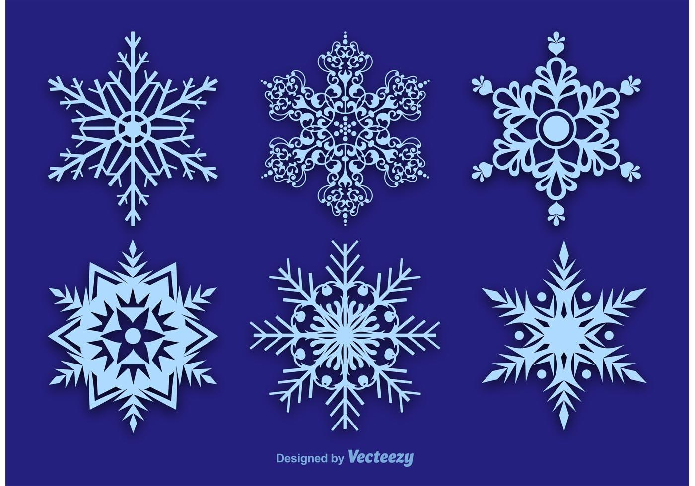 Snowflake Vector Decorations Art