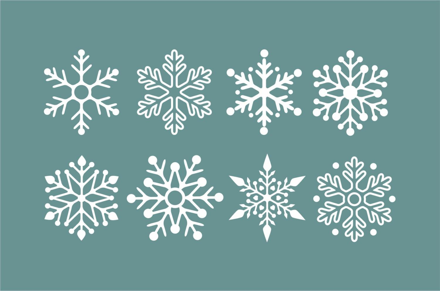 Snowflake Wall Decals Winter Holiday Decorations Snow Flake