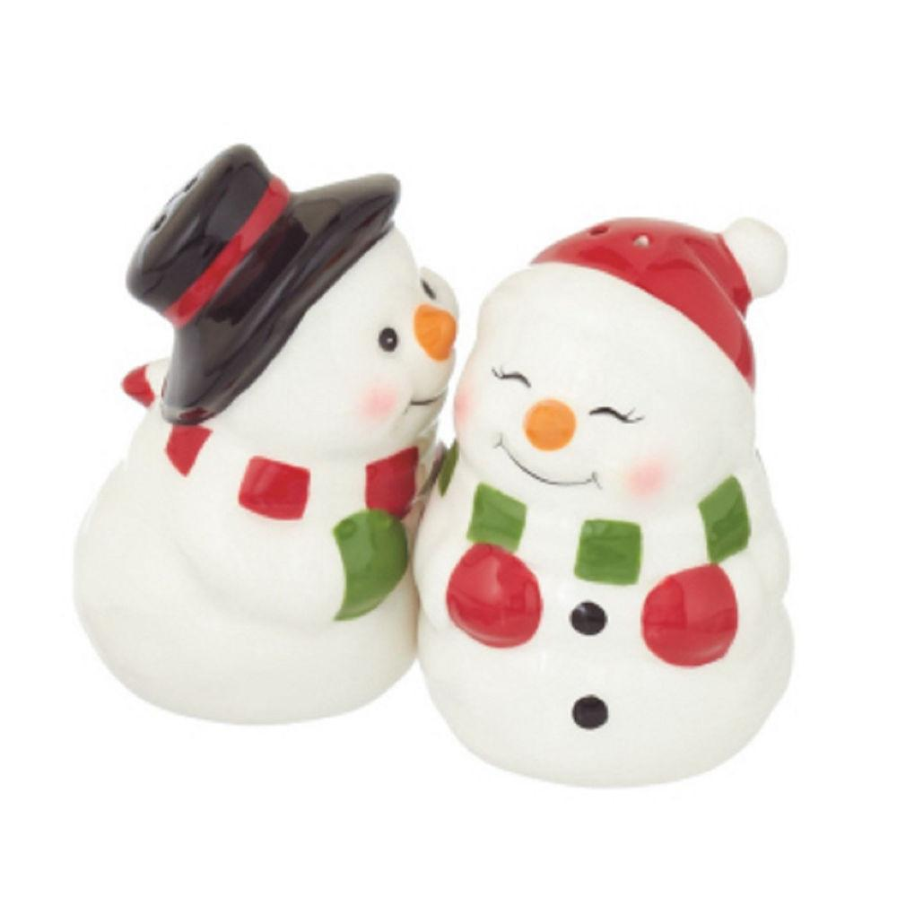 Snowman Salt Pepper Shaker Set Kitchen Winter
