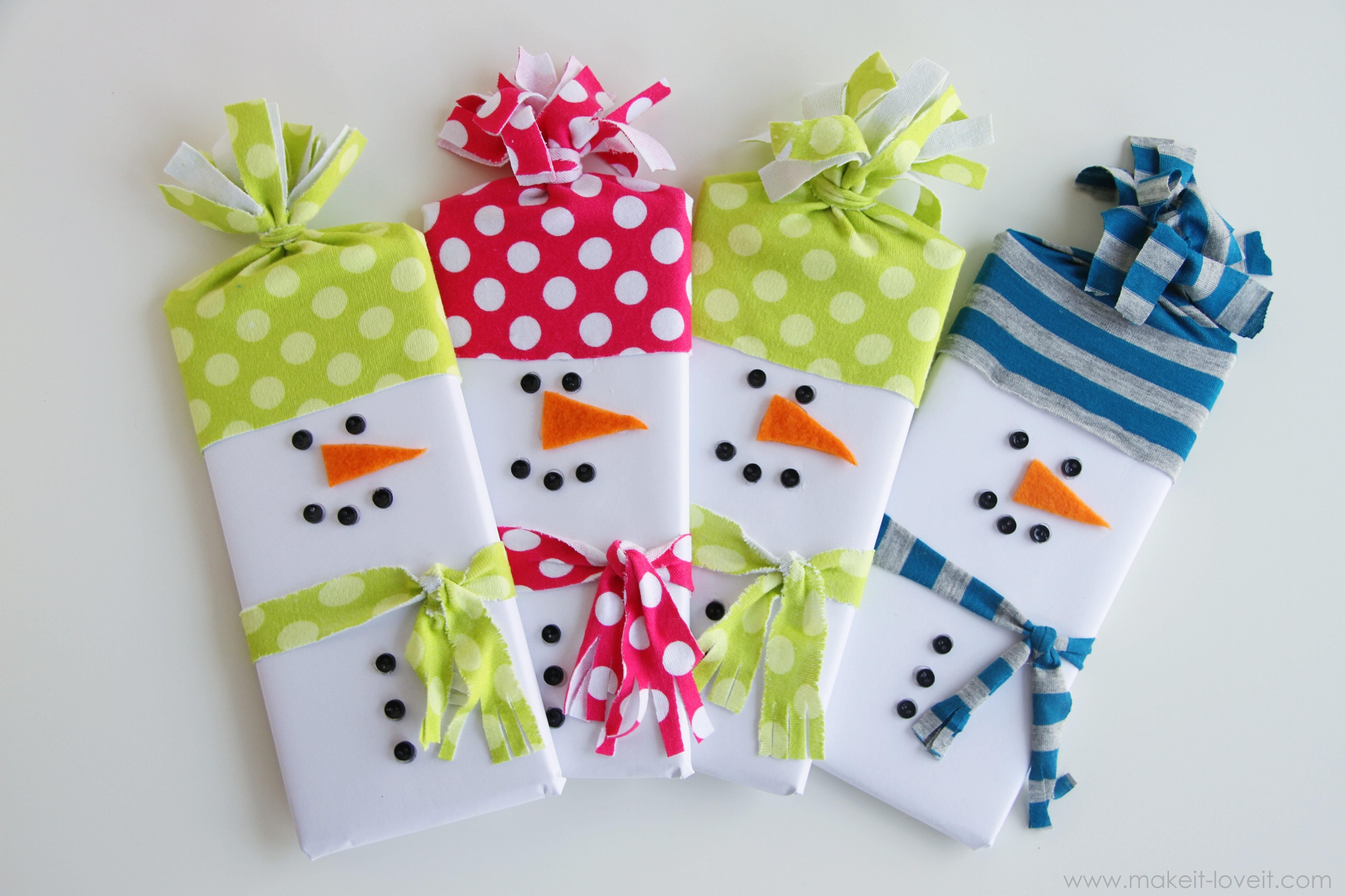 Snowman Wrapped Candy Gifts Make Love