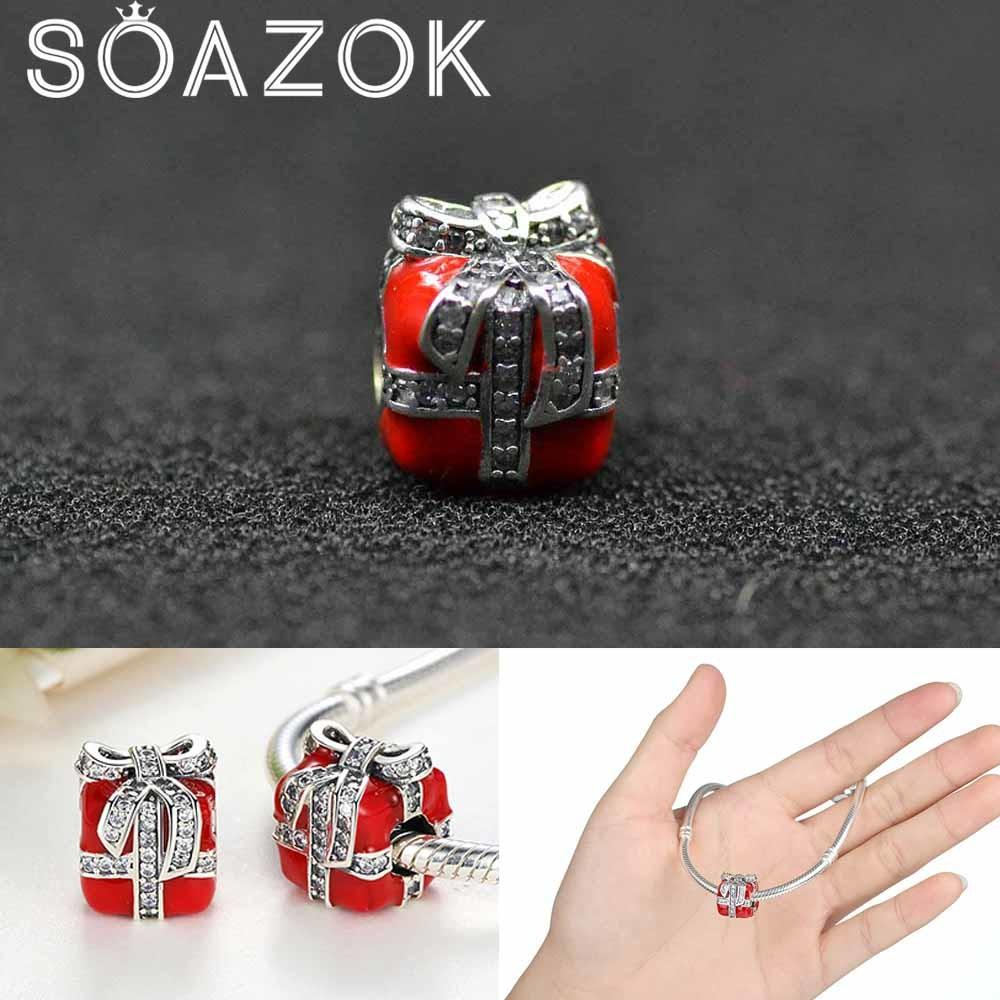 Soazok Fit Pandora Bracelet Diy Red Enamel