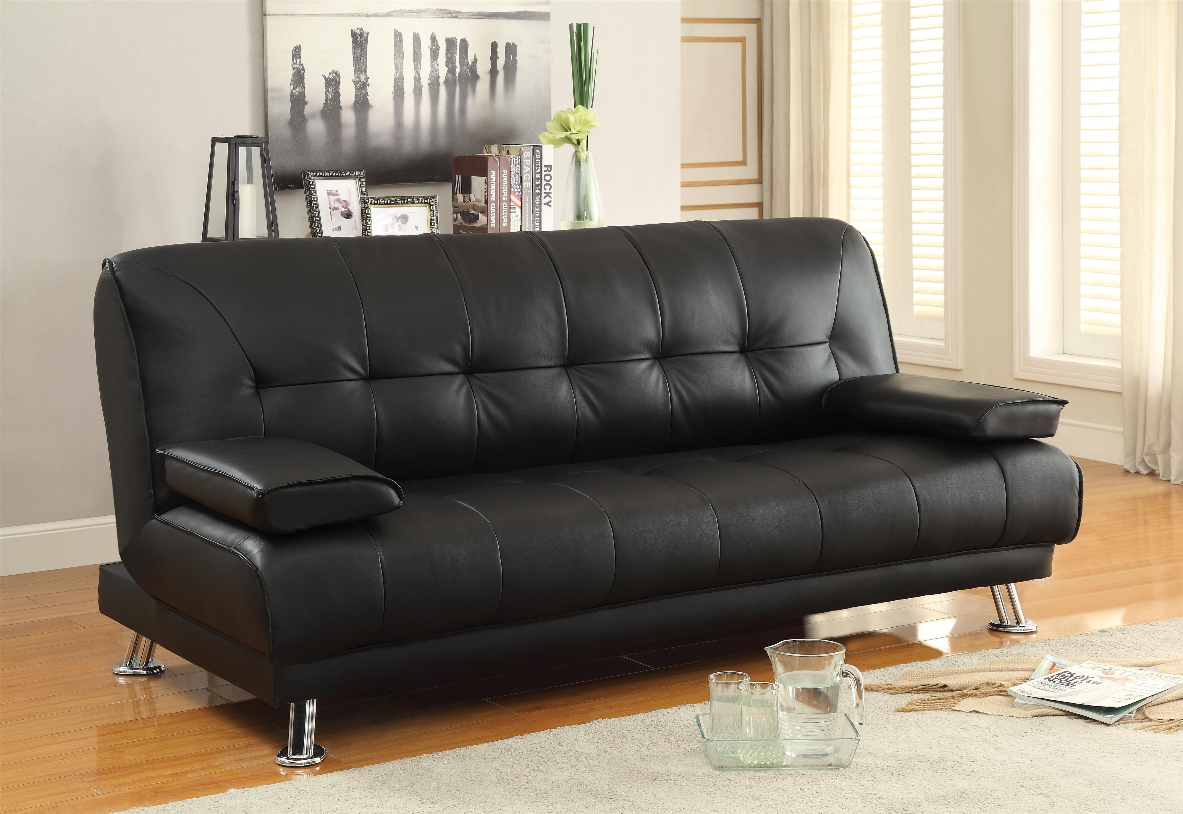 Sofa Beds Futons Faux Leather Convertible Bed