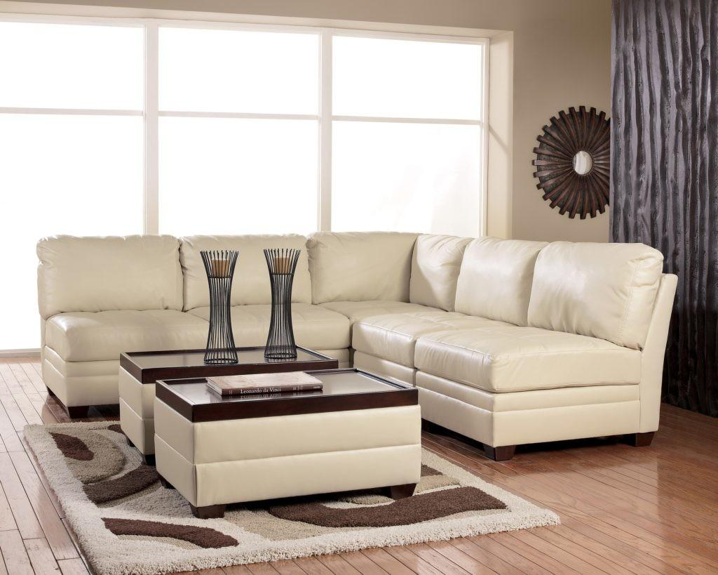 Sofas Decorating Ideas Comes White Leather Cushioning