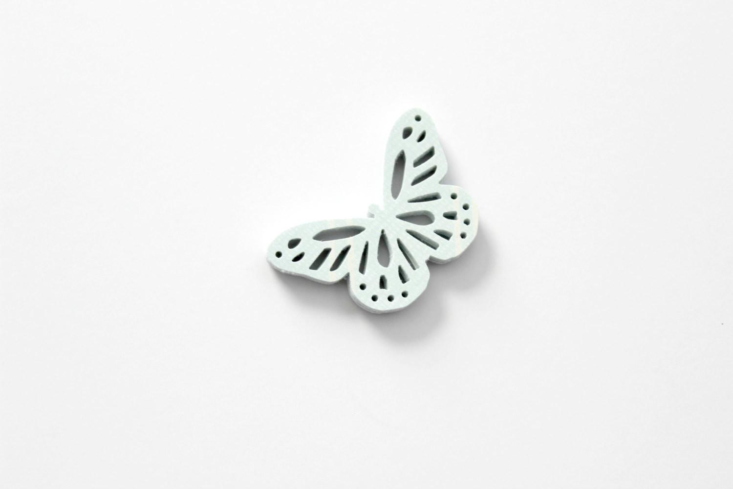 Soft Light Mint Blue Butterfly Die Cuts Pastel Table