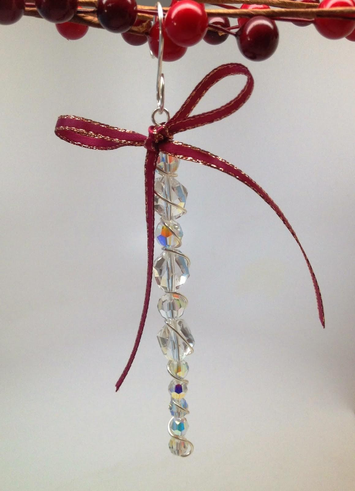 Softflexgirl Diy Holidays Crystal Beaded Icicle Ornament