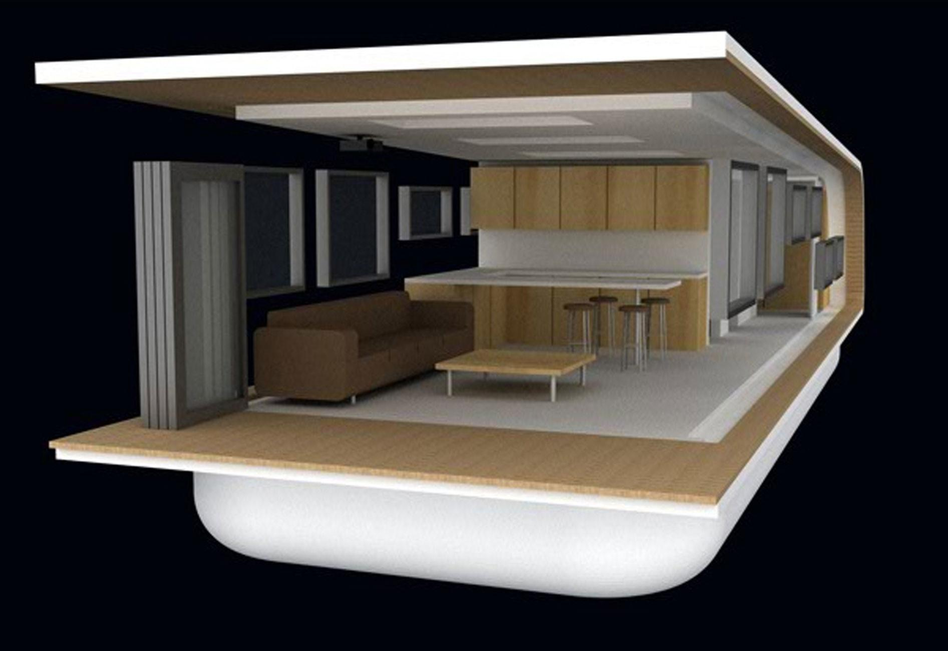 Solarhome Modern Mobile Floating House Concept