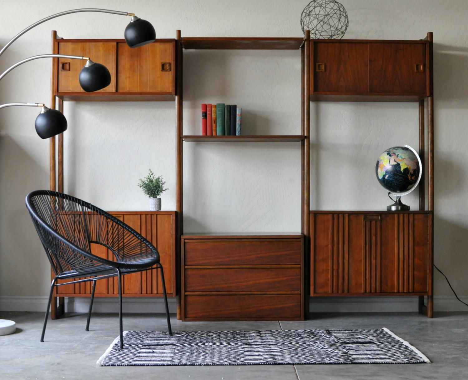 Sold Mid Century Danish Modern Modular Wall Unit