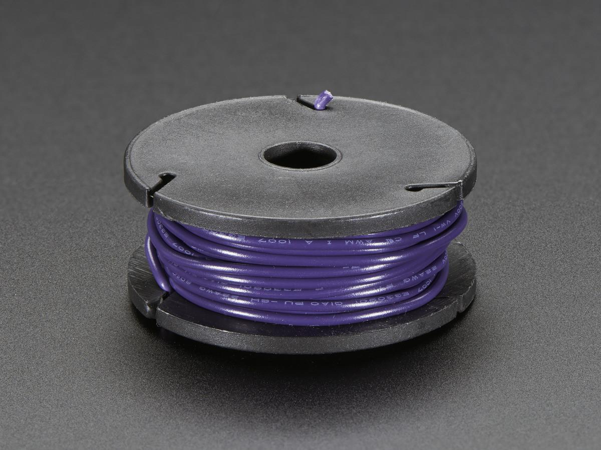 Solid Core Wire Spool 25ft 22awg Violet 2990