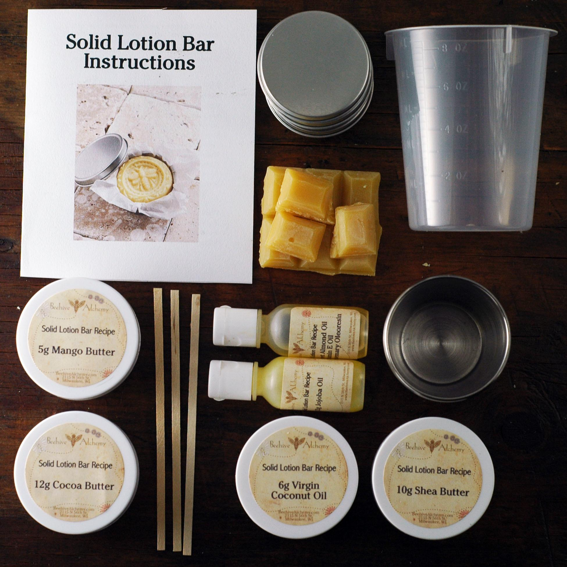 Solid Lotion Bar Kit