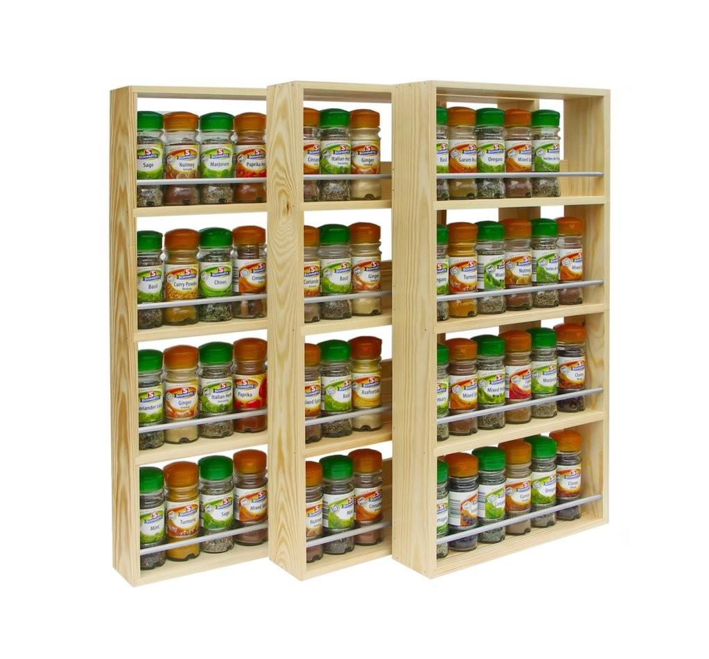 Solid Pine Spice Rack Tiers Shelves Silverapplewood