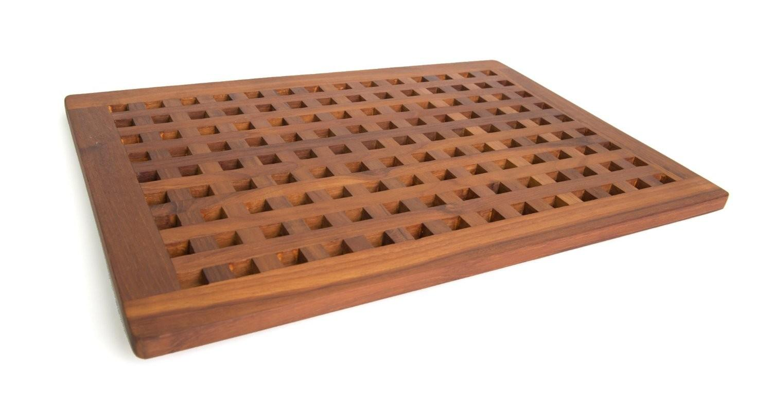 Solid Teak Bath Mat Clayton Design Alternative
