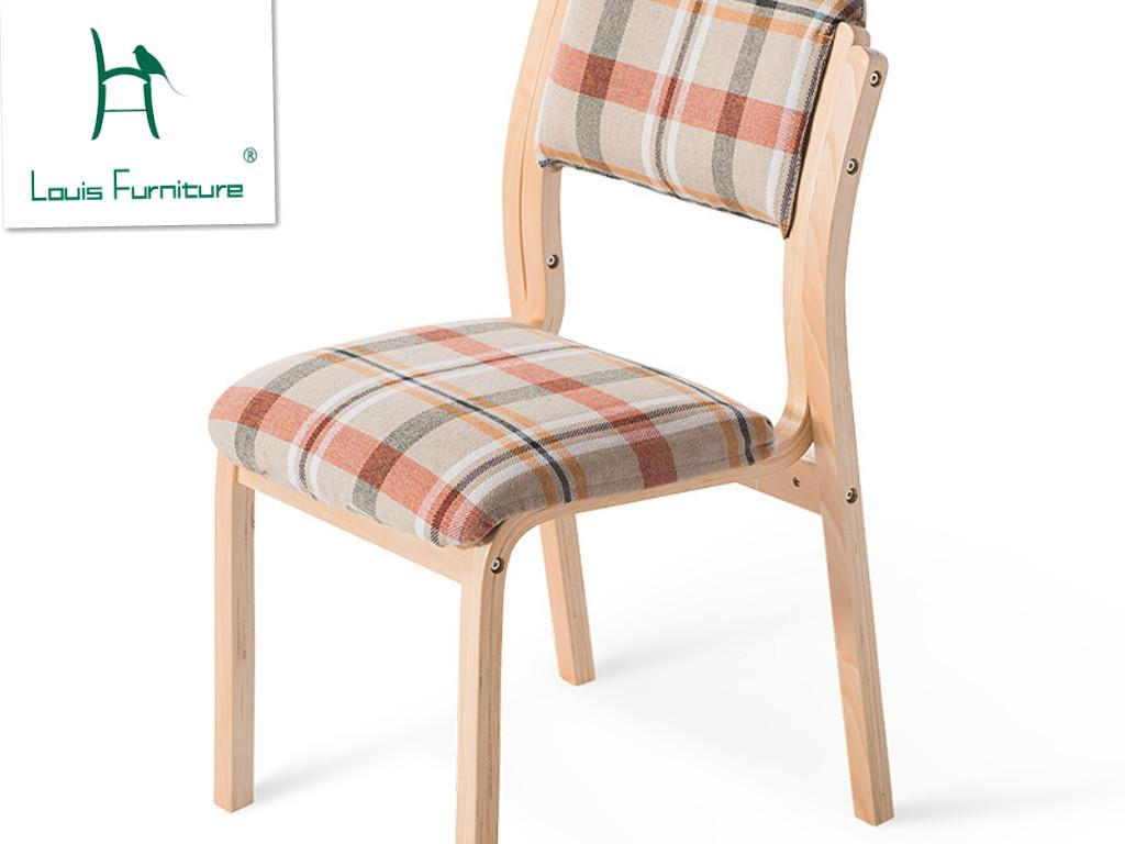 Solid Wood Table Chair Back North European Style