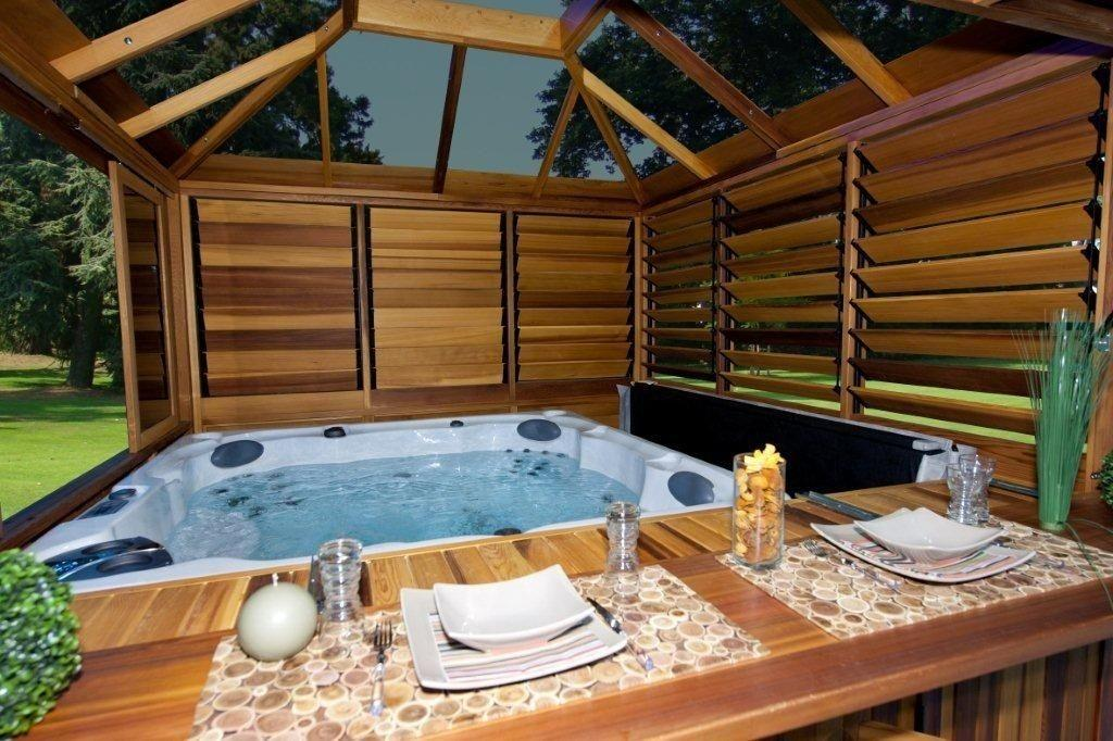 Some Design Ideas Hot Tub Gazebo Interior